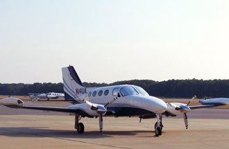 Cessna 414 Chancellor charter flight options may be limited to twin piston plane availability in Calgary, Vancouver, British Columbia or Boundary Bay Airport in Canada.